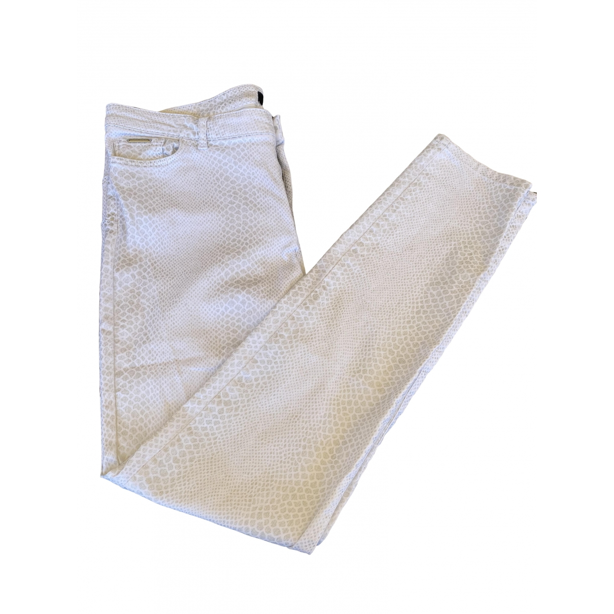 One Step \N White Cotton - elasthane Jeans for Women 44 FR