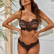 Eyelash Lace Lingerie Set
