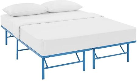 Horizon Collection MOD-5428-LBU Full Size Platform Bed Frame with Non-Marking Foot Caps  Modern Style and Heavy Duty Stainless Steel Frame
