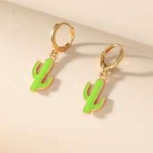 Cactus Charm Drop Earrings