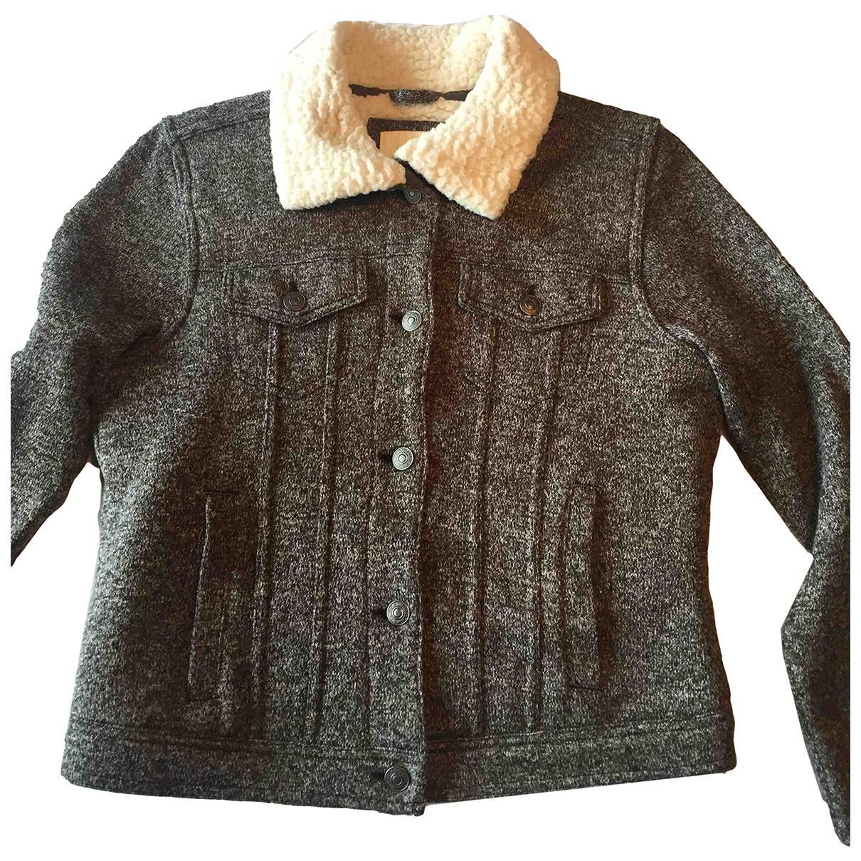Abercrombie & Fitch \N Jacke in  Grau Baumwolle