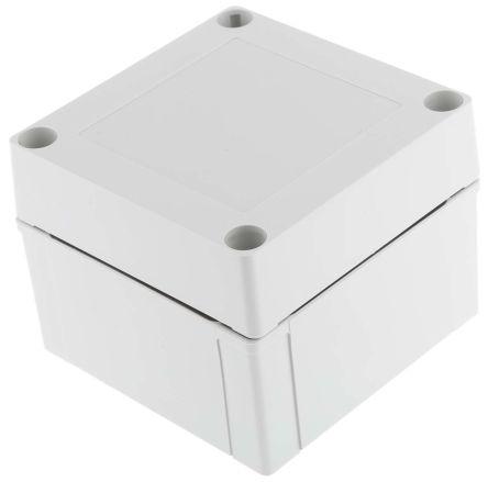 Fibox Grey ABS Enclosure, IP66, IP67, 100 x 100 x 75mm