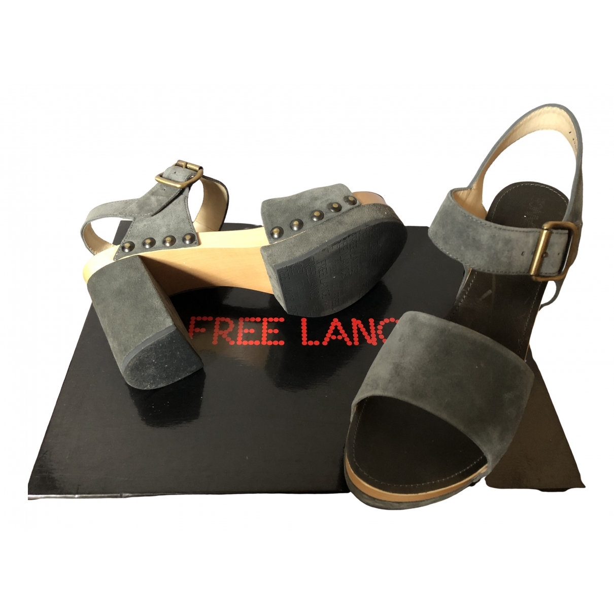 Free Lance \N Grey Leather Sandals for Women 41 EU