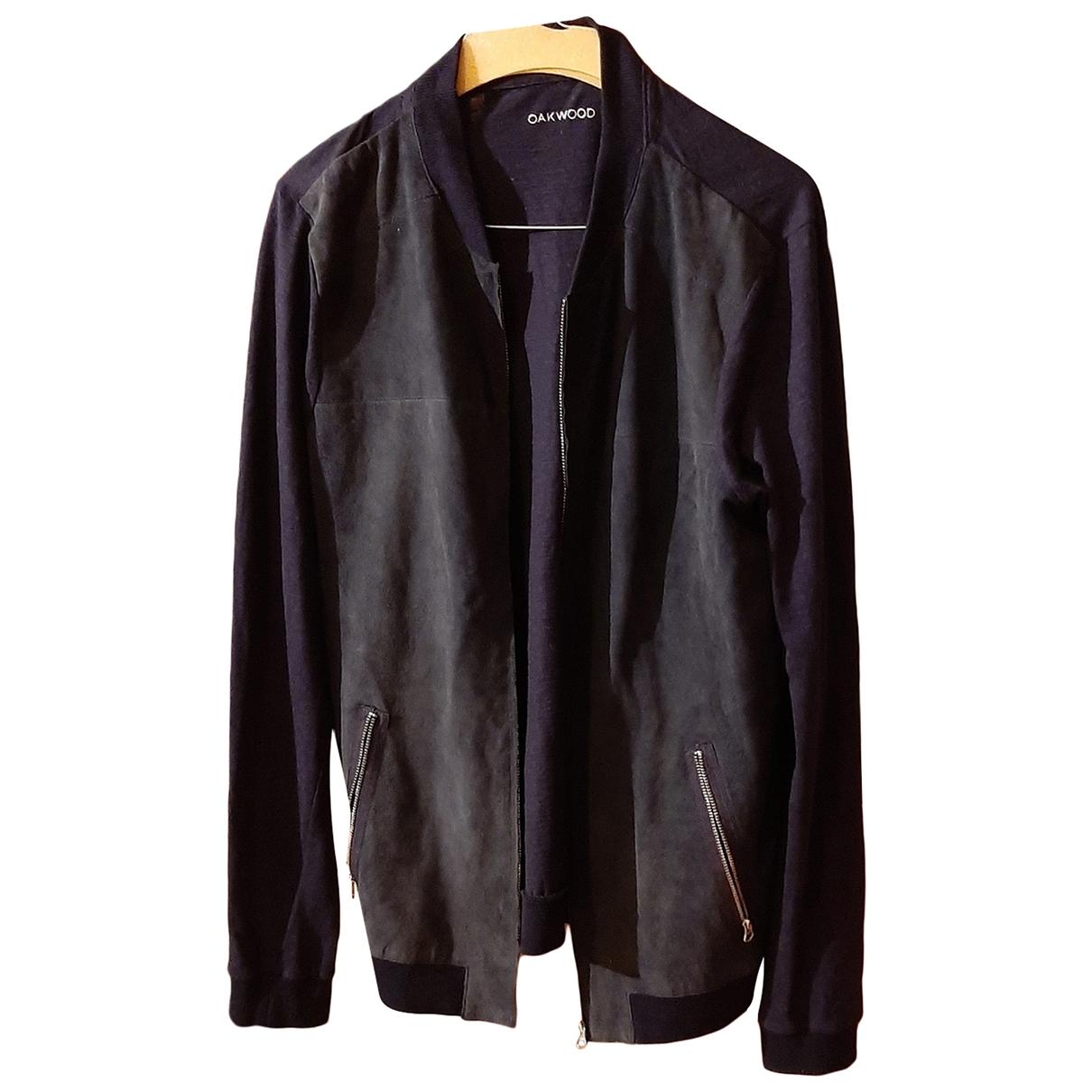 Oakwood \N Blue Leather Leather jacket for Women M International