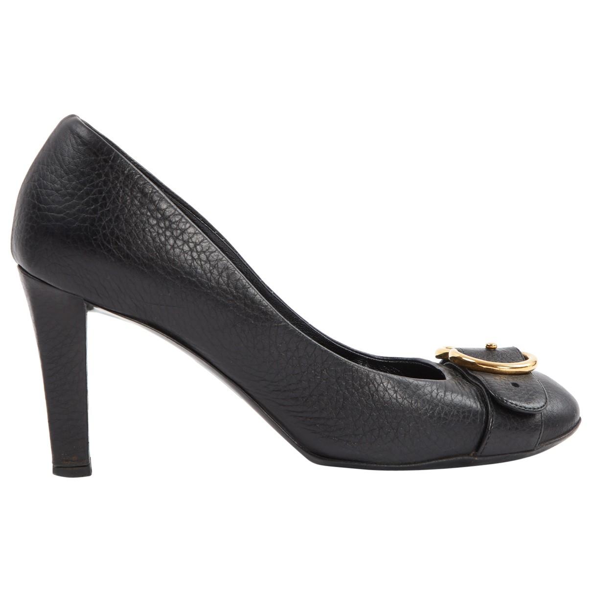 Gucci \N Black Leather Heels for Women 38.5 EU