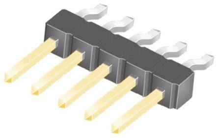Samtec , TSM, 5 Way, 1 Row, Right Angle Pin Header