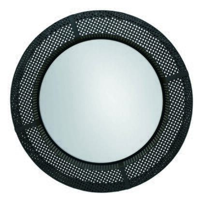 Zurie Collection HW-1089-02 Mirror with Metal Frame in Black