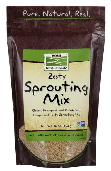Sprouting Mix Clover Fenugreek and Radish 1 lb by Now Foods