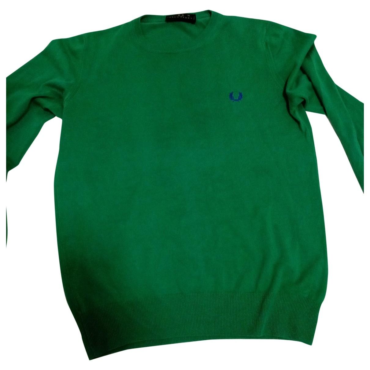 Fred Perry \N Pullover.Westen.Sweatshirts  in  Gruen Baumwolle