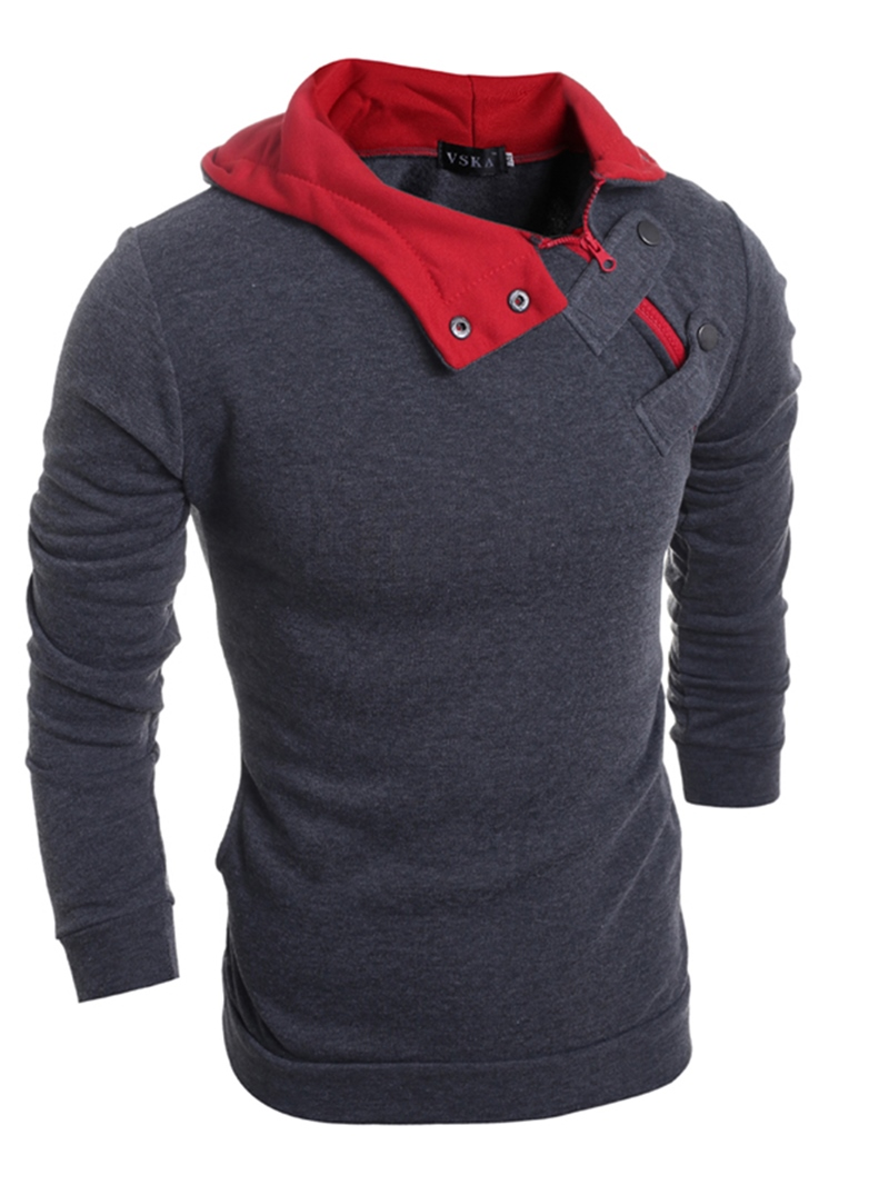 Ericdress Hooded Patchwork Pullover Men's Hoodie