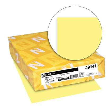 Neenah Exact Astrobrights® Coloured Cardstock, 90 lb, Letter Size, 250 /Pack, Canary