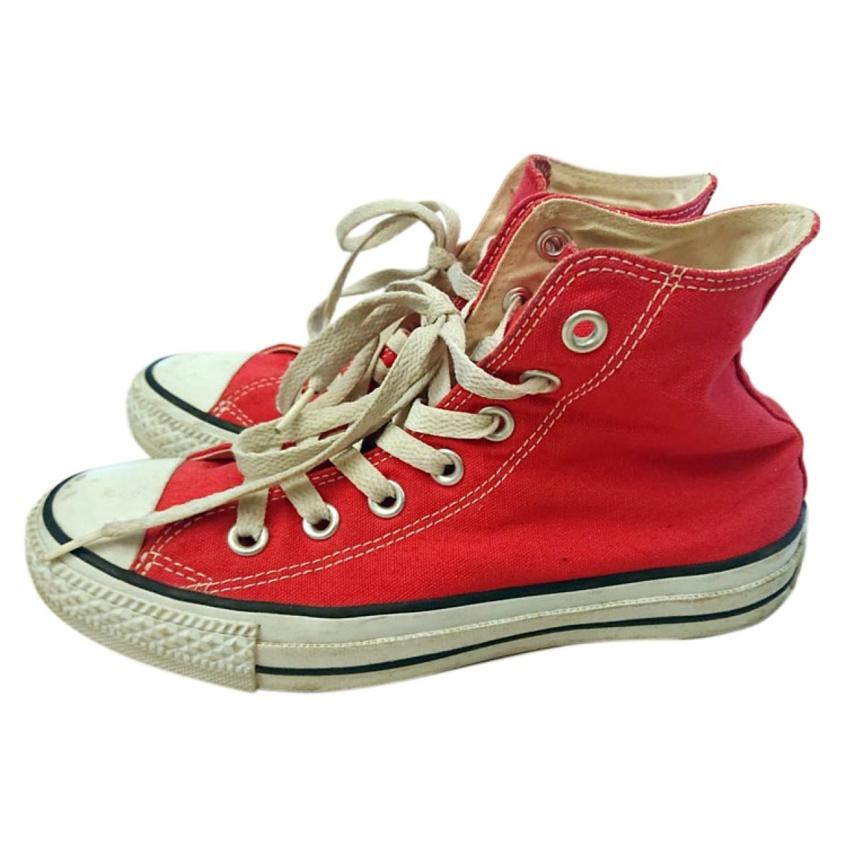 Converse \N Red Cloth Trainers for Women 3.5 US