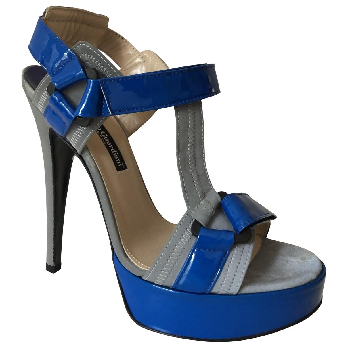 Alberto Guardiani - Escarpins   pour femme en cuir verni - bleu