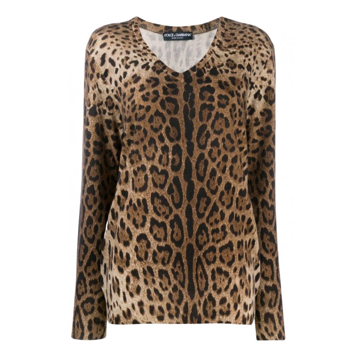 Dolce & Gabbana - Pull   pour femme en cachemire - marron