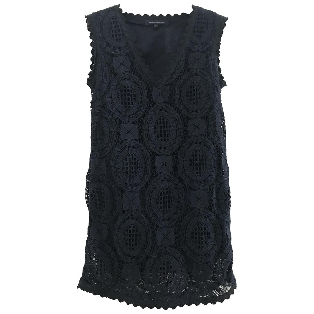 French Connection - Robe   pour femme en coton - bleu