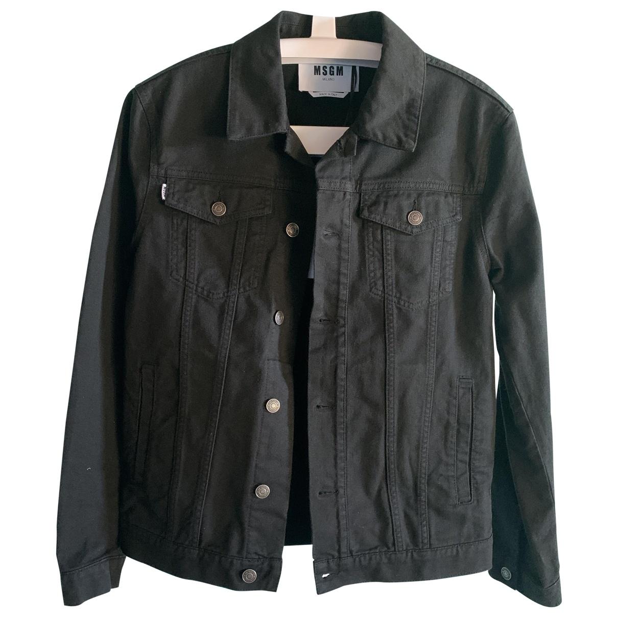 Msgm \N Jacke in  Schwarz Denim - Jeans