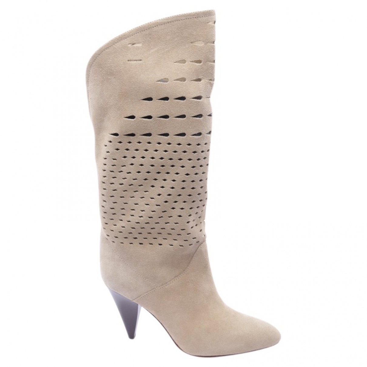 Isabel Marant \N Beige Leather Ankle boots for Women 37 EU