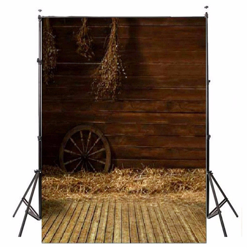 3x5ft Vinyl Photography Backgrounds Wooden Wall Backdrops Studio Props