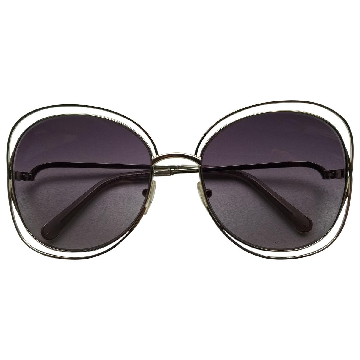Chloé \N Anthracite Metal Sunglasses for Women \N
