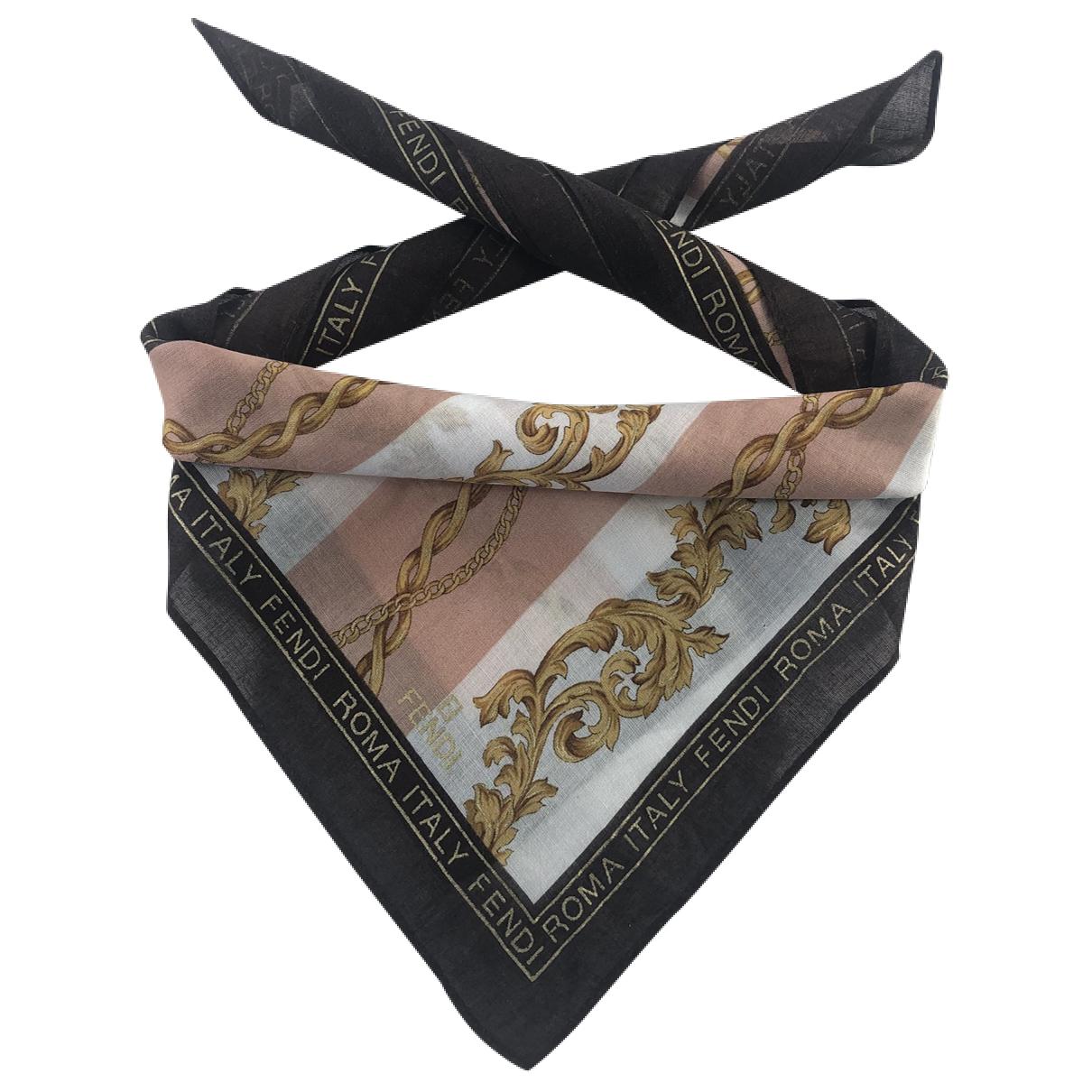 Fendi N Brown Cotton Silk handkerchief for Women N
