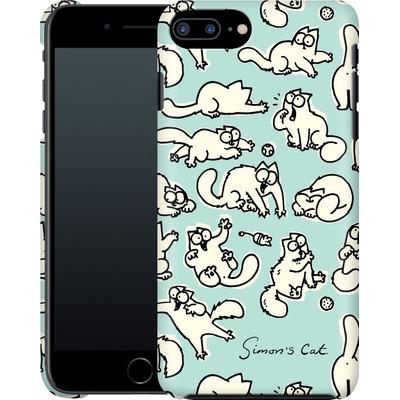 Apple iPhone 8 Plus Smartphone Huelle - Simon´s Cat Green Pattern von Simons Cat