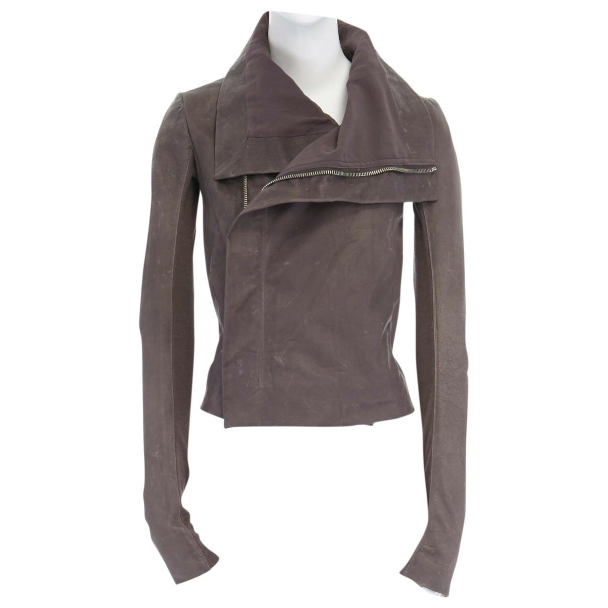 Rick Owens \N Grey Leather jacket for Women 38 IT