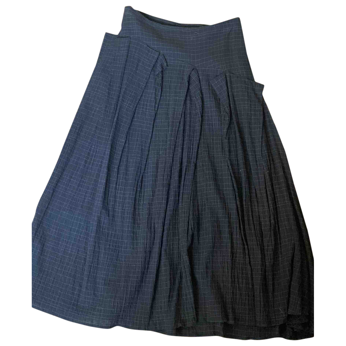 Forme Dexpression N Anthracite Wool skirt for Women 40 IT