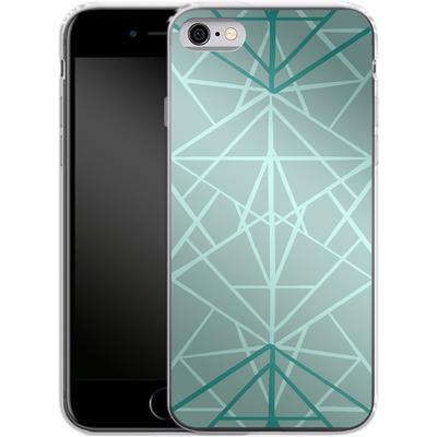 Apple iPhone 6 Silikon Handyhuelle - Geometric Sketches 3 von Mareike Bohmer
