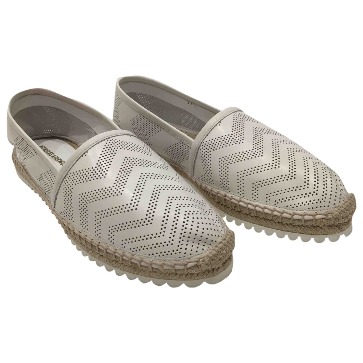 Nicholas Kirkwood \N White Leather Espadrilles for Women 37.5 EU