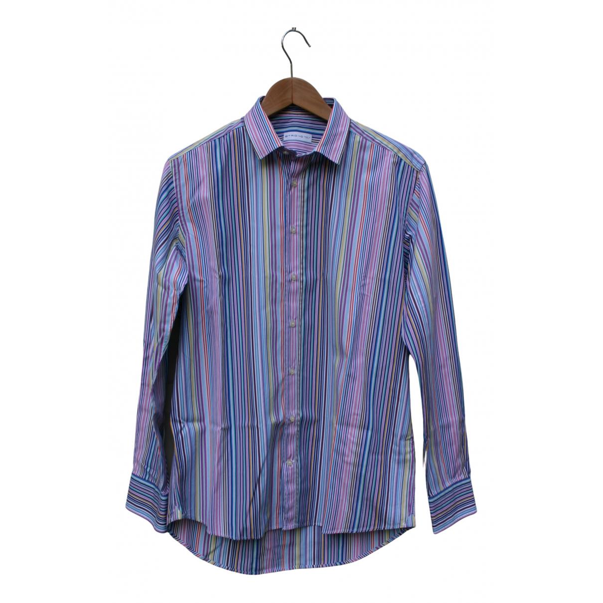 Etro N Multicolour Cotton Shirts for Men 40 EU (tour de cou / collar)