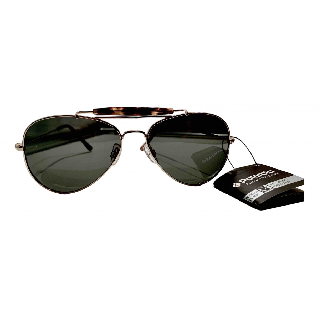 Non Signé / Unsigned \N Gold Metal Sunglasses for Men \N