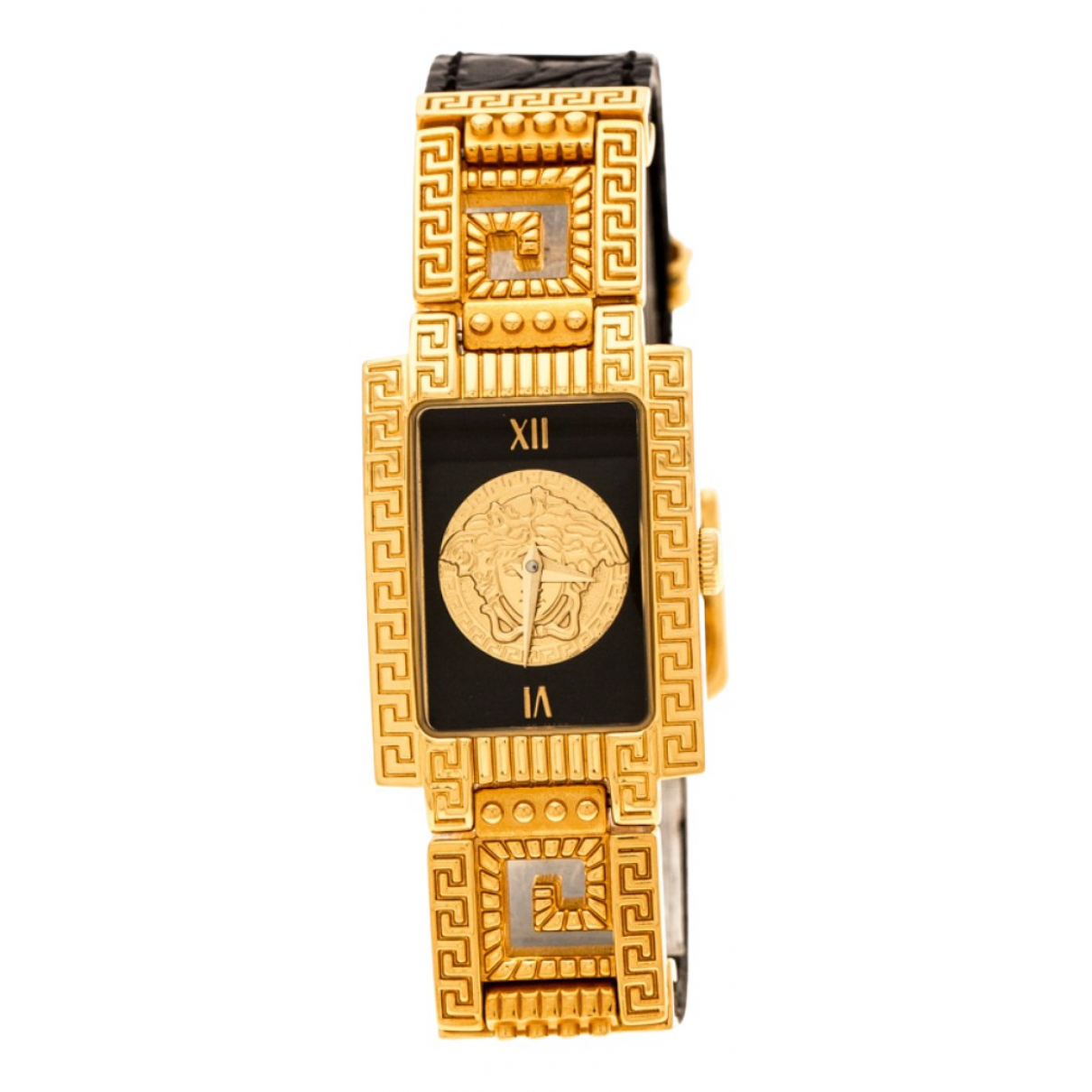 Versace \N Uhr in  Schwarz Vergoldet