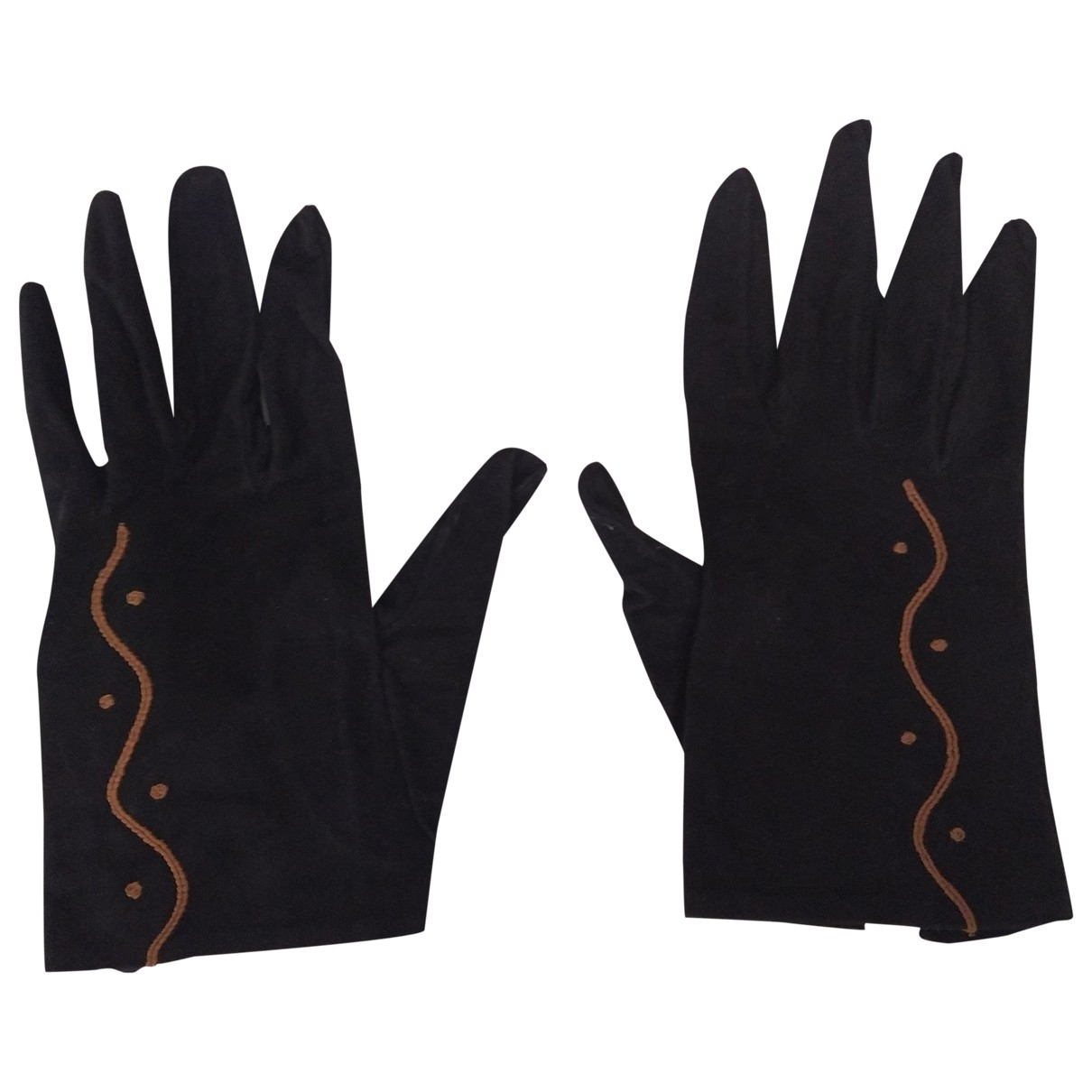 Philippe Model \N Handschuhe in  Schwarz Veloursleder
