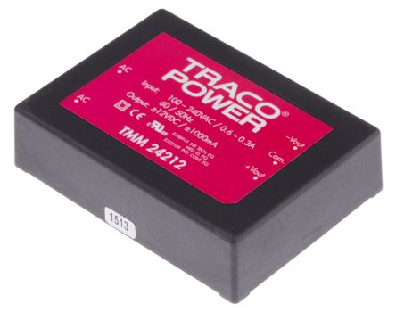 TRACOPOWER , 24W Embedded Switch Mode Power Supply SMPS, ±12V dc, Encapsulated, Medical Approved