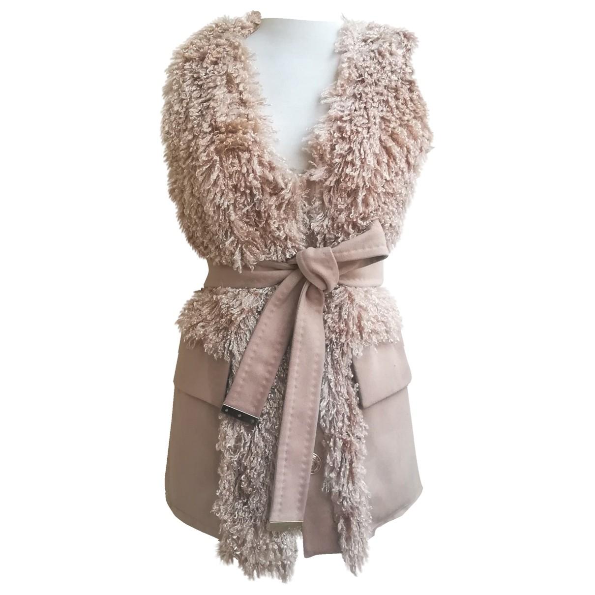 Pinko \N Beige Wool jacket for Women 40 IT