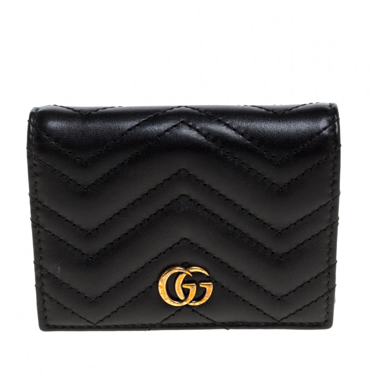 Gucci Marmont Portemonnaie in  Schwarz Leder