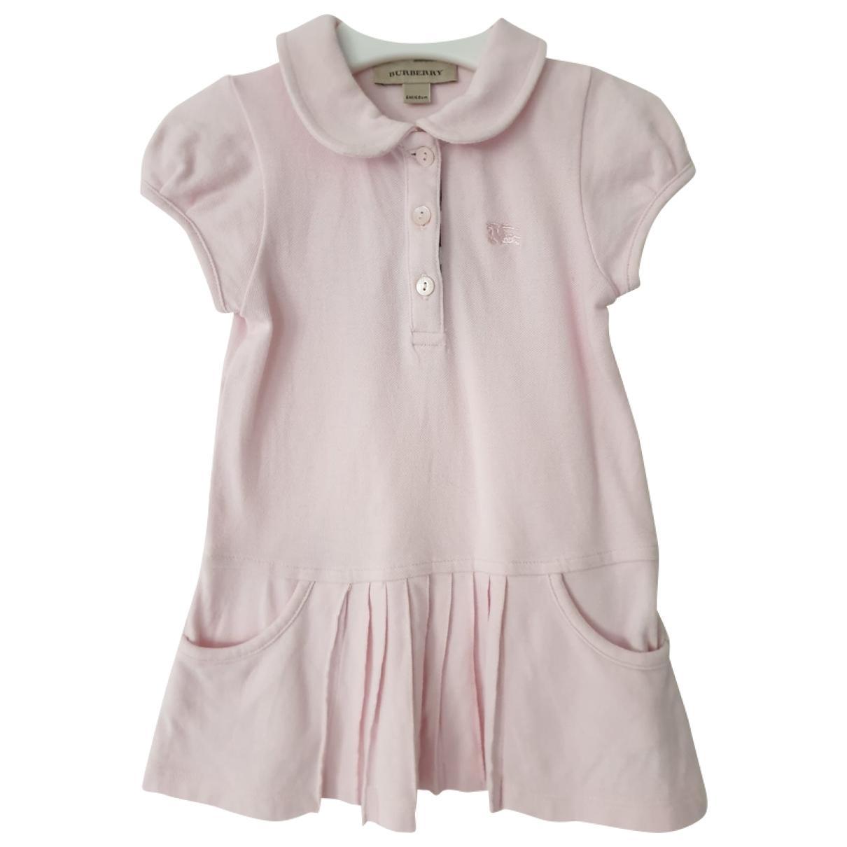 Kenzo \N Kleid in  Rosa Baumwolle - Elasthan