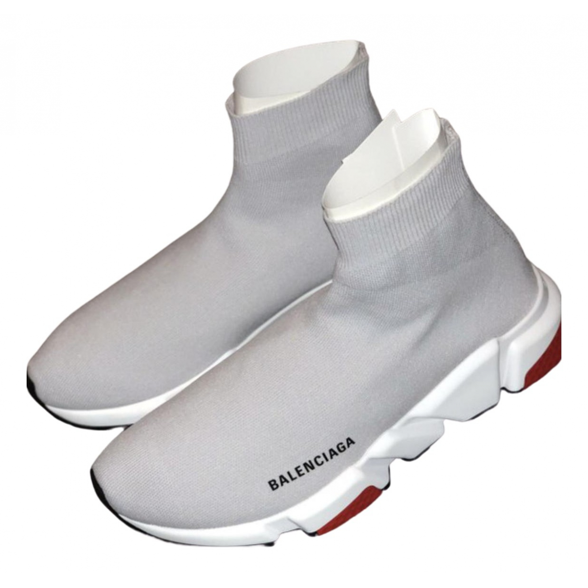 Balenciaga Speed Sneakers in  Grau Leinen