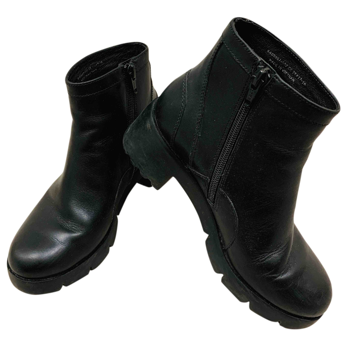 Camper \N Black Leather Boots for Women 35 EU
