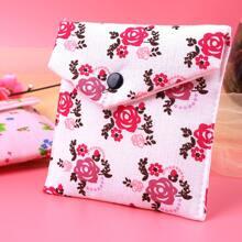 Bolsa de almacenamiento de servilletas sanitarias floral al azar 1 pieza