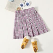 Faldas para niñas Cremallera Tartan Preppy