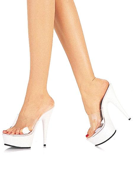 Milanoo Women Xmas Clear Sandals Platform Open Toe High Heel Sandals Red Sexy Shoes
