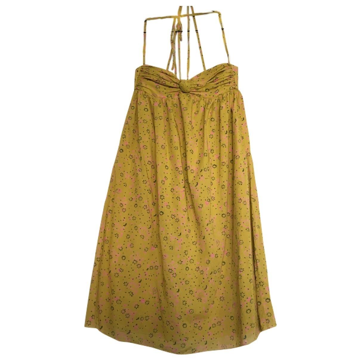 Joseph - Robe   pour femme en coton - jaune