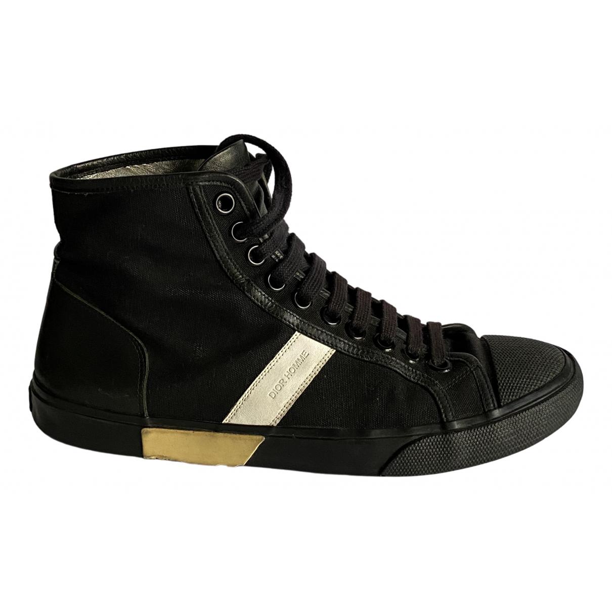 Dior Homme \N Sneakers in  Schwarz Leinen