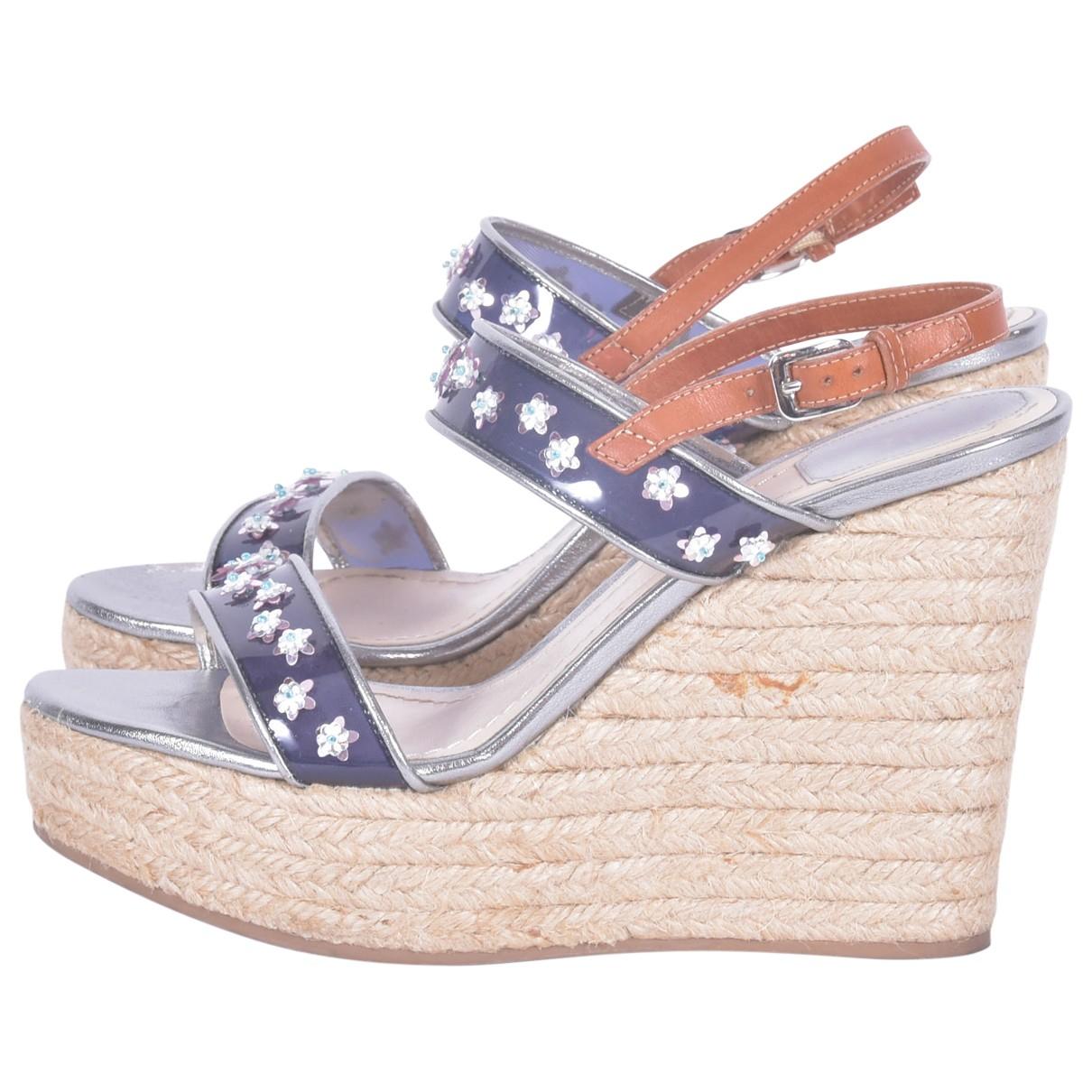 Dior \N Sandalen in  Blau Lackleder