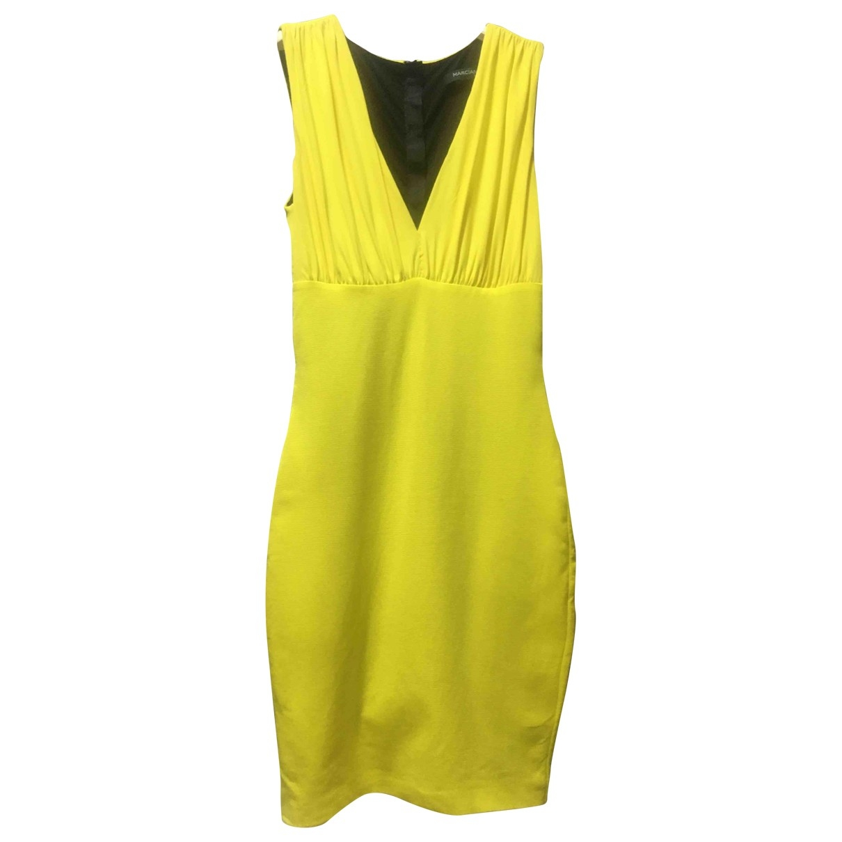 Guess \N Kleid in  Gelb Viskose