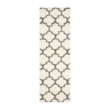 Safavieh Montreal Shag Collection Shelby Geometric Runner Rug, One Size , Multiple Colors