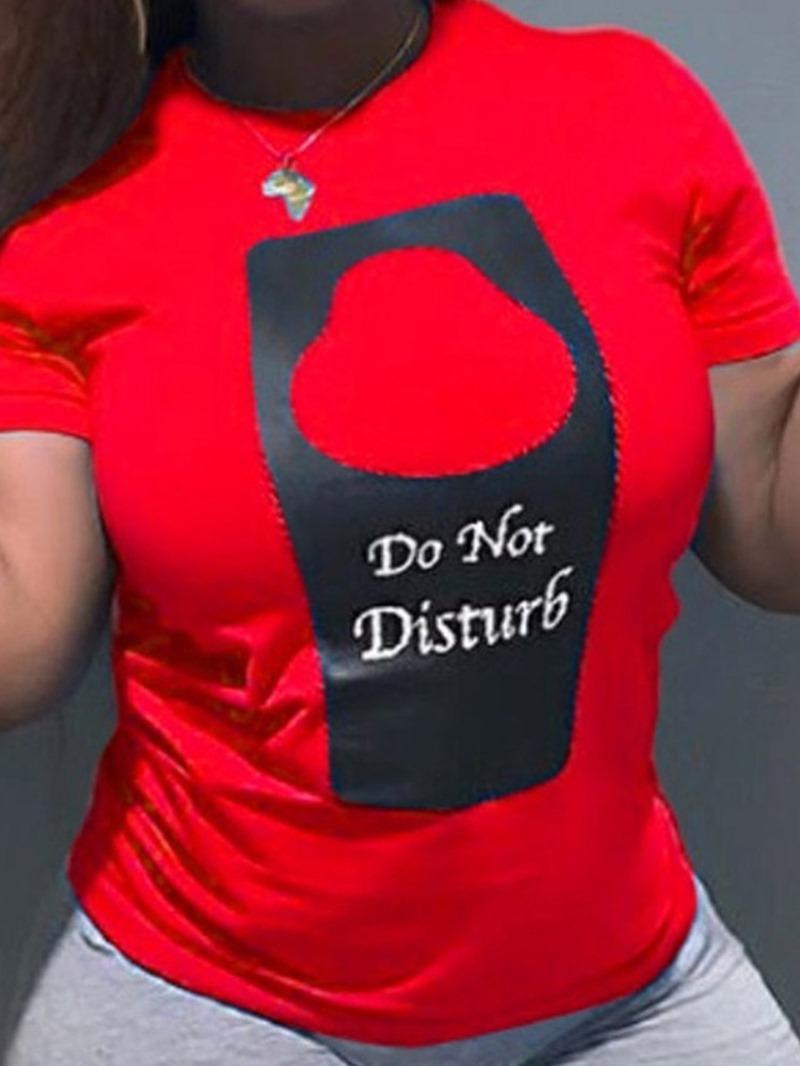 Ericdress Standard Round Neck Short Sleeve Slim Fashion T-Shirt