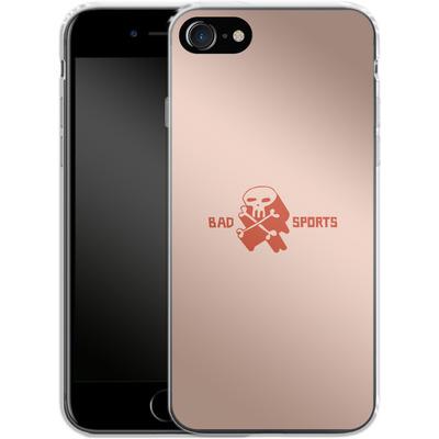 Apple iPhone 7 Silikon Handyhuelle - Bad Sports Skull von caseable Designs