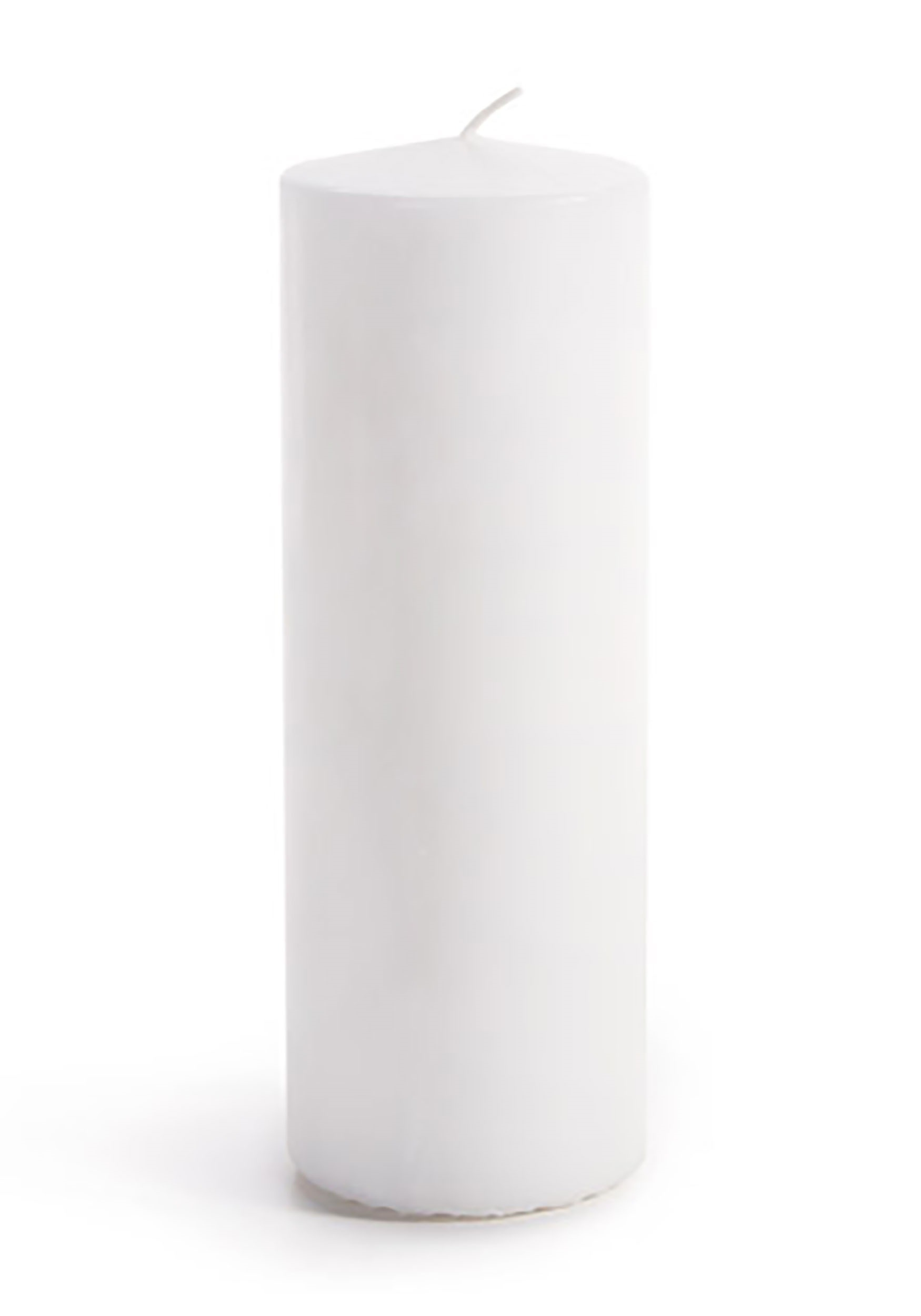 Set of 3 Fresh White Unscented Pillar Candles 2-7/8